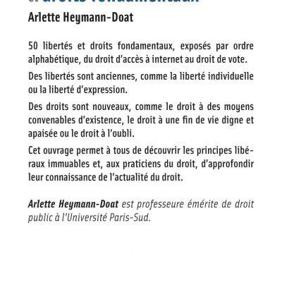 50 libertés et droits fondamentaux, Arlette Heymann-doat, Dalloz