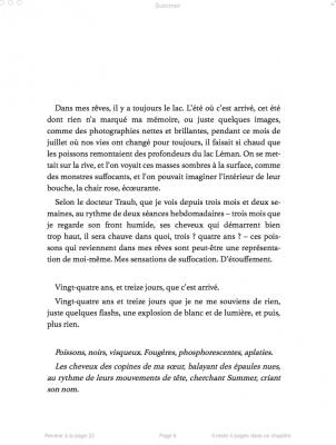Summer, Monica Sabolo, éditions Jean-Claude Lattès