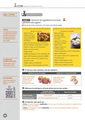 Cuisine BAC PRO - 1ère-Term. Prof Guide pédagogique et corrigés pour les enseignants